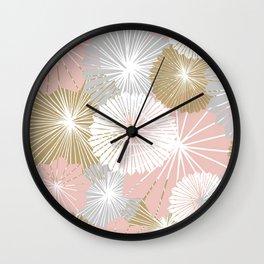 paper fan fireworks Wall Clock