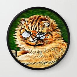 ORANGE TABBY CAT - Louis Wain's Cats Wall Clock