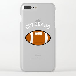 Colorado American Football Design white font Clear iPhone Case