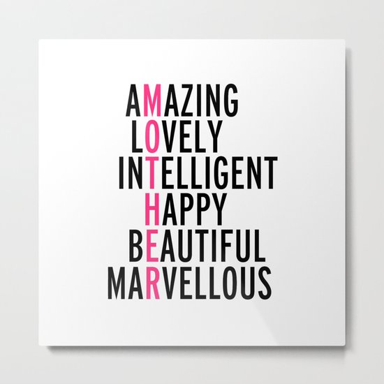 Mother Quote Metal Print