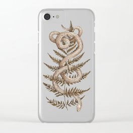 The Snake and Fern Clear iPhone Case