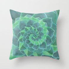 Succulent Rhapsody Throw Pillow