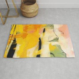 landscape abtract - paysage jaune Rug
