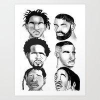 hip hop Art Prints featuring Hip Hop by Tristan