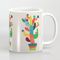 cactus Mugs featuring Whimsical Cactus by Picomodi