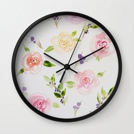 Petite Florals Wall Clock