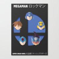 smash bros Canvas Prints featuring Megaman Smash Bros. by CmOrigins