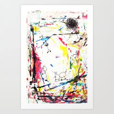 They Enjoy the Color Attack! Art Print