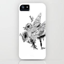 Bee - Go vegan iPhone Case