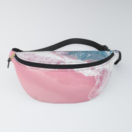 Aerial Pink Beach Fanny Pack