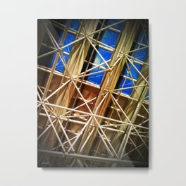Glass and Steel Metal Print