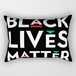 Black Lives Matter portrait Rectangular Pillow