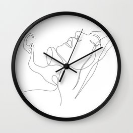 Lovers - Minimal Line Art 3 Wall Clock