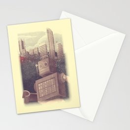 A City Snow-Bot Stationery Cards