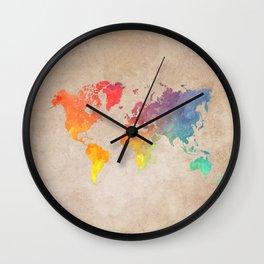 World Map Maps #map #maps #world Wall Clock