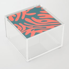 Living Coral in the Deep Sea - Pantone Color Trend 2019 Acrylic Box