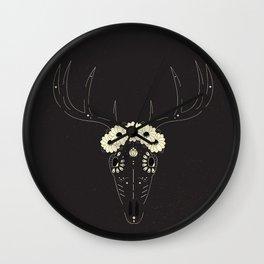Sugar Skull Deer Wall Clock
