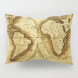 Antique Map of the World Pillow Sham