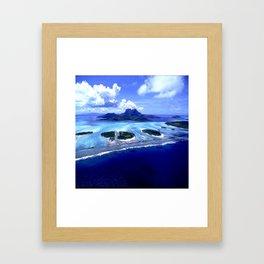 Bora Bora Island Tropical Paradise Framed Art Print