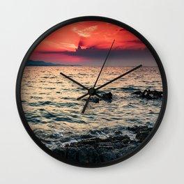 Ionian sea II Wall Clock