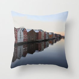 Norwegian reflections Throw Pillow