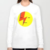 emoji Long Sleeve T-shirts featuring bowie emoji by Rue du chat qui peche