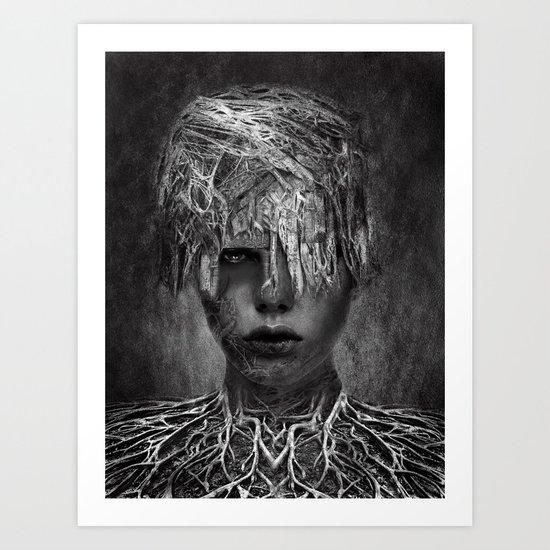 Ina - B&W Art Print