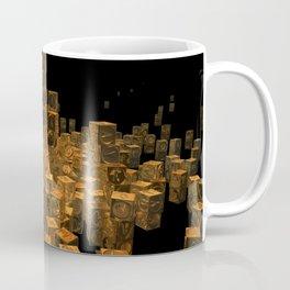 Stacker In Gold POV Ray Tracing Coffee Mug
