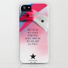 Farewell Space Man (Former Blackstar from Mars) iPhone Case