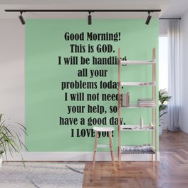 Good Morning from GOD Wall Mural