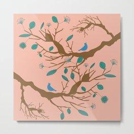 Birds on a branch 1 Metal Print