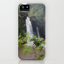 Waterfall on the road to Hana (vertical) iPhone Case