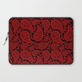 Paisley (Red & Black Pattern) Laptop Sleeve