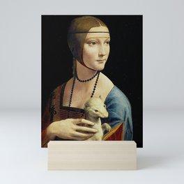 THE LADY WITH AN ERMINE - DA VINCI Mini Art Print