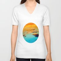 swim V-neck T-shirts featuring Swim by Rick Staggs