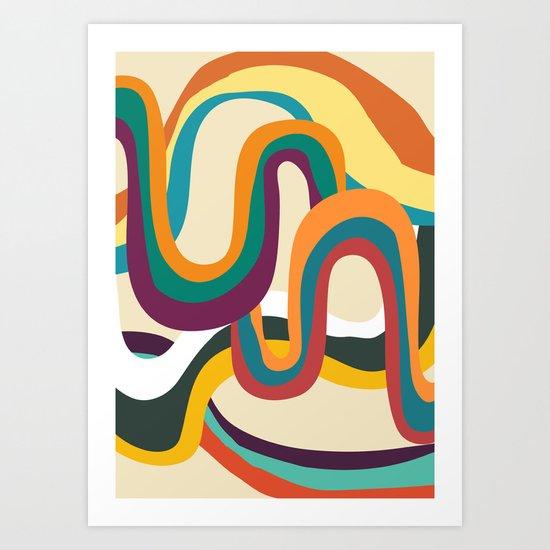 Groovy rainbow of doom Art Print