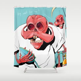 Hey, wait for me! Shower Curtain
