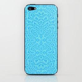 Mandala Flowers turquoise blue iPhone Skin