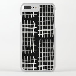 Hashtag, Black Clear iPhone Case