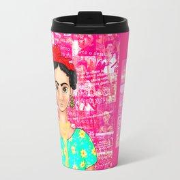 Frida OK Pink Travel Mug