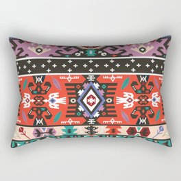 Fancy abstract geometric pattern in tribal style Rectangular Pillow