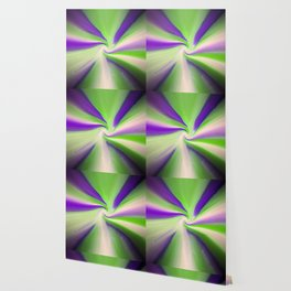 Green and Purple Abstract Art Wallpaper