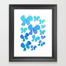 butterflies, butterfly print, butterfly illustration, butterfly pattern, art, print, design,  Framed Art Print