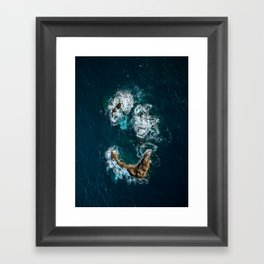 Sea Smile - Ocean Photography Framed Art Print