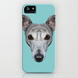 Whippet // Blue iPhone Case