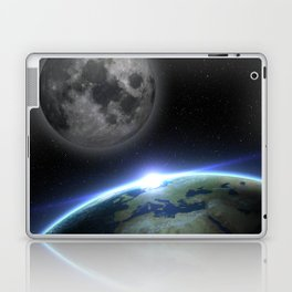 Earth and moon Laptop & iPad Skin