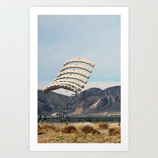 Skydive Art Print
