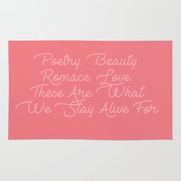 poetry beauty romance love Rug