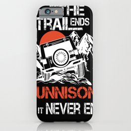 Eagles Gunnison where the trailends city no it never ends women iPhone Case