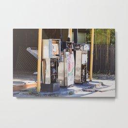 Abandoned Gas Station. Australia. Metal Print